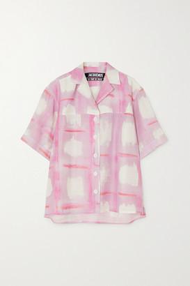 Jacquemus Vallena Printed Woven Shirt - Pink