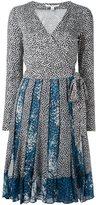 Diane von Furstenberg pleated wrap dress