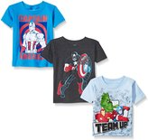 Marvel Toddler Boys Avengers Team Up Super Value Tee Pack