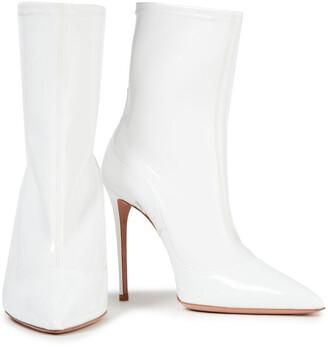 Aquazzura Zen 105 Vinyl And Patent-leather Sock Boots