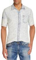 True Religion Acid Wash Slim Fit Button Down Shirt