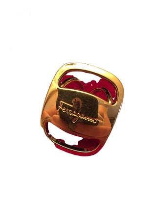 Salvatore Ferragamo Gold Synthetic Scarves