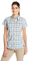 Dickies Women's Performance Woven Vented Short-Sleeve Shirt