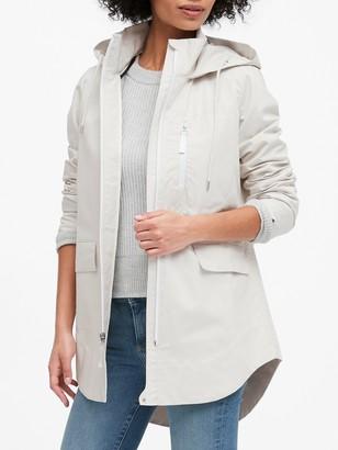 Banana Republic Petite Water-Resistant Linen-Cotton Rain Jacket