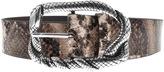 Just Cavalli Leather Python Belt Brown