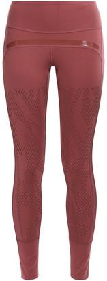 adidas by Stella McCartney + Adidas Mesh-paneled Stretch-jersey Leggings