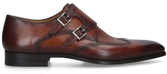 Magnanni Punched Double Monk Derby Shoes