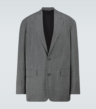 Balenciaga Checked boxy single-breasted blazer