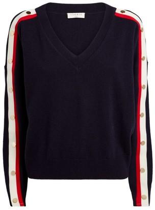Sandro Paris Striped-Sleeve Sweater
