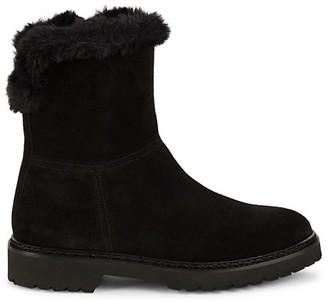 Aquatalia Marilena Faux Fur-Trim Suede Winter Boots