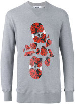 MSGM skateboard print sweatshirt - men - Cotton/Viscose - M