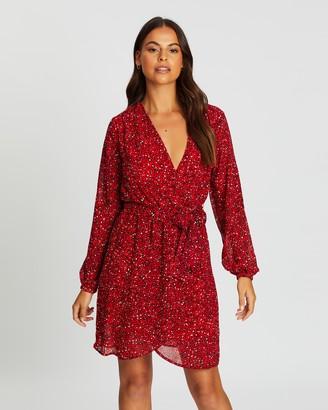 Only Star Wrap Chiffon Dress
