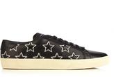 Saint Laurent Court Classic star-appliqué leather trainers