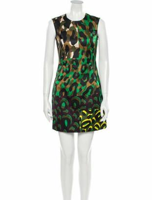 Versace Animal Print Mini Dress w/ Tags Green