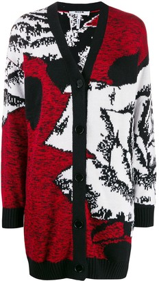 MSGM Oversized Abstract-Pattern Cardi-Coat