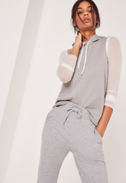 Missguided Sleeveless Hoodie Grey