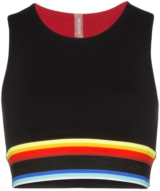 NO KA 'OI No Ka' Oi rainbow-stripe sports bra