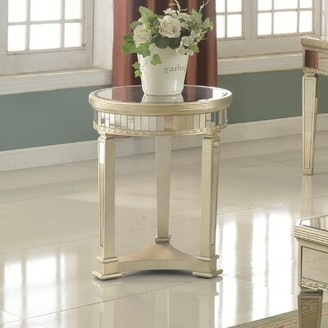 Willa Arlo Interiors Felicia Round End Table Willa Arlo Interiors