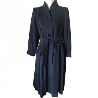 Saint Laurent Anthracite Cashmere Coat for Women Vintage