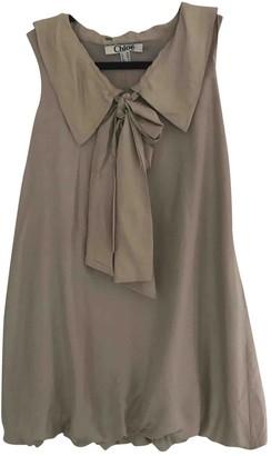 Chloã© ChloA Beige Silk Dresses