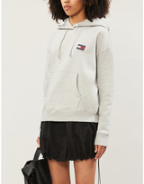Tommy Jeans Logo-applique cotton-jersey hoody