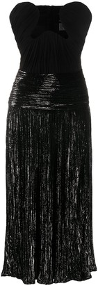 Saint Laurent Lurex Velvet Bustier Dress