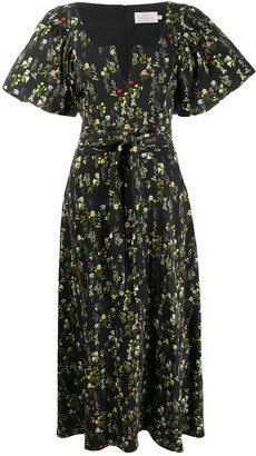 Preen by Thornton Bregazzi Katarina pouf sleeve tea dress
