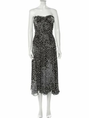 Liancarlo Couture Silk Midi Length Dress Green