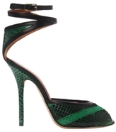 Malone Souliers Green Lolo Ankle Wrap Sandal