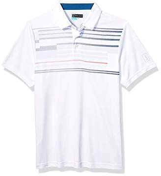 PGA TOUR Men's Big and Tall Short Sleeve Airflux Solid Polo Shirt