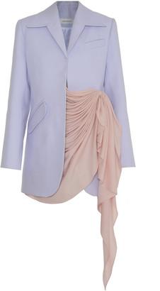 Lado Bokuchava Draped Asymmetrical Cotton Blazer