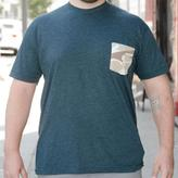 Blade + Blue Khaki Camo Print Pocket on Teal Tee