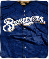 Northwest Company Milwaukee Brewers Raschel Strike Blanket