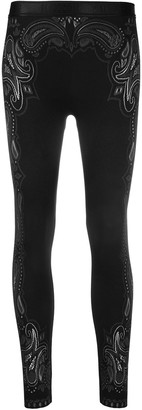 Wolford Paisley Stretch Jersey Leggings