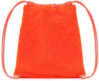 Off-White Jitney Furry shearling pouch