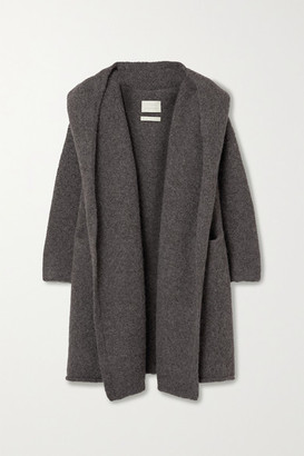 LAUREN MANOOGIAN Capote Hooded Alpaca-blend Cardigan - Gray