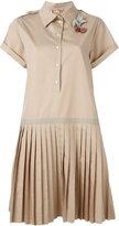 No.21 pleated shirt dress - women - Cotton - 42