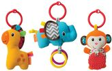 Infantino 3-pk. Tag Along Plush Travel Pals