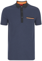 Hugo Dexas Contrast Polo Shirt Navy
