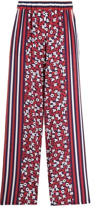 P.A.R.O.S.H. Elasticated Logo-Print Silk Trousers