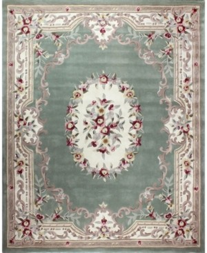 """KM Home Closeout! Palace Garden Aubusson Sage 3'6"""" x 5'6"""" Area Rug"""
