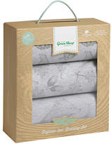 The Little Green Sheep Wild Cotton Baby Bear Crib Bedding Set, Pack of 3, Grey