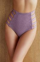 Tori Praver Vera Smocked Strappy High Waisted Bikini Bottom