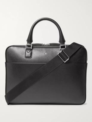 Montblanc Sartorial Cross-Grain Leather Briefcase - Men - Black