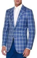 Stefano Ricci Windowpane Two-Button Sport Coat, Blue