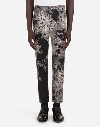 Dolce & Gabbana Printed Skinny Stretch Jeans