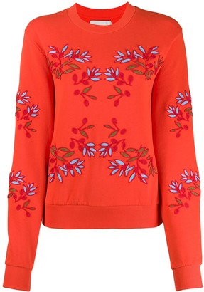 Henrik Vibskov Flower Embroidered Sweatshirt