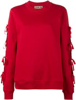 Jour/Né - lace-up knitted jumper - women - Cotton - 40