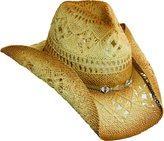 Scala Western Cowgirl Hat with clear Beads by Dorfman Pacific