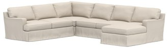 Pottery Barn Townsend Square Arm Slipcovered 3-Piece Sectional